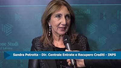 Forum Lavoro - Intervista a Sandra Petrotta. INPS
