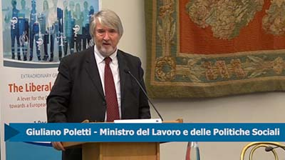 01.12.2017 intervento del Min. Poletti all'evento CESE
