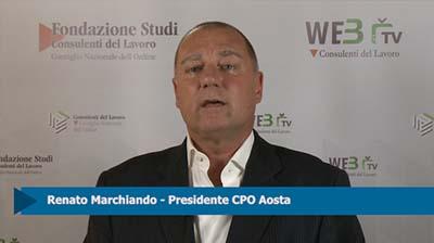 Intervista a Renato Marchiando, Presidente CPO Aosta