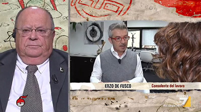 La7. Di martedì del 17.04.2018. Enzo De Fusco