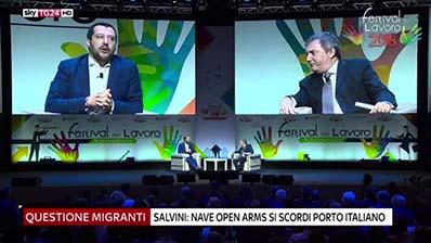 Sky Tg24 del 30.06.2018 - Matteo Salvini e Luigi Di Maio