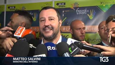 Tg3 edizione delle 14.20 del 29.06.2018 - Matteo Salvini