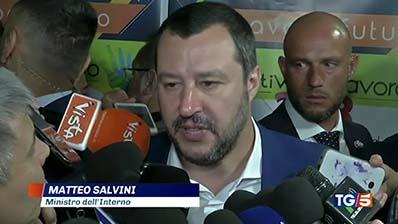 Tg5 edizione delle 13.00 del 29.06.2018 - Matteo Salvini