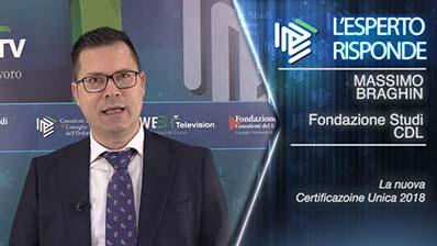 Massimo Braghin. La nuova Certificazione Unica 2018