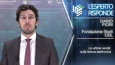 Dario Fiori. Novità della fatturazione elettronica