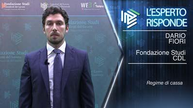 Dario Fiori: Il nuovo regime fiscale per le imprese minori