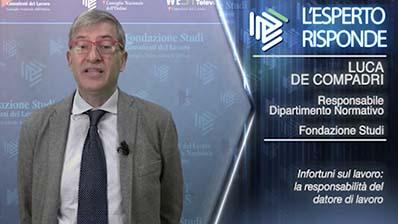 Luca De Compadri. Infortuni sul lavoro: la responsabilità del datore di lavoro