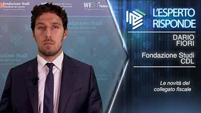 Dario Fiori. Le novità del Collegato Fiscale