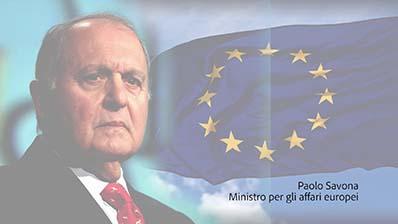Messaggio di Paolo Savona, Ministro per gli Affari Europei
