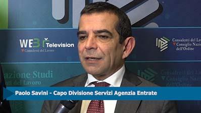Forum Lavoro - Intervista a Paolo Savini, Agenzia delle Entrate