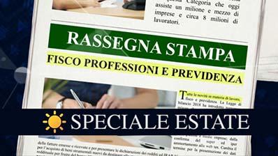 Rassegna Stampa - Speciale estate 06.08.2018