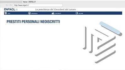 Enpacl: Prestiti personali neoiscritti