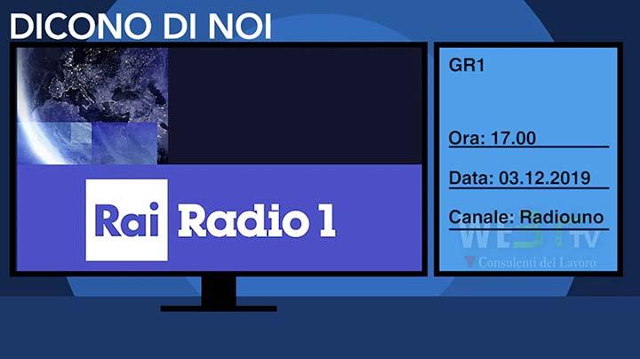 Radio Rai Uno del 03.12.2019 ore 17.00