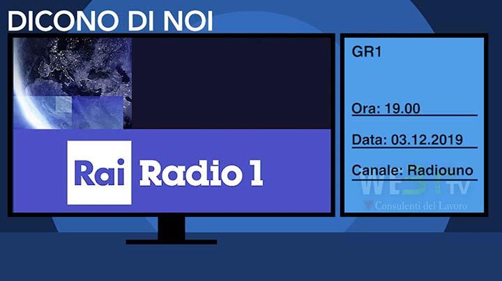 Radio Rai Uno del 03.12.2019 ore 19.00