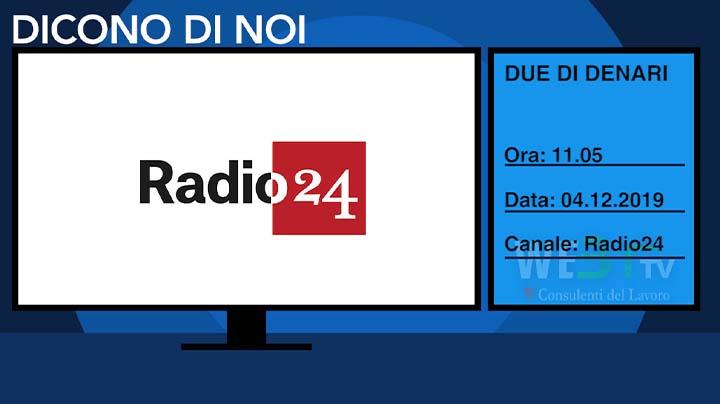 Radio 24 del 04.12.2019