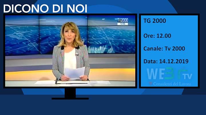 Tv2000 del 14.12.2019 delle 12.00