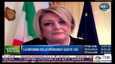 Video Forum Italia Oggi del 23.01.2019. Marina Calderone