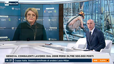Rainews24 del 26.02.2019 Marina Calderone