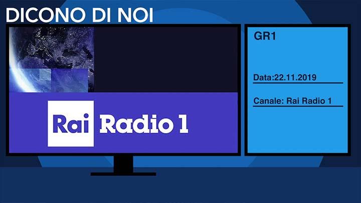 Radio Rai 1 del 22.11.2019