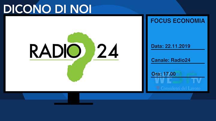 Radio24 del 22.11.2019, Focus Economia