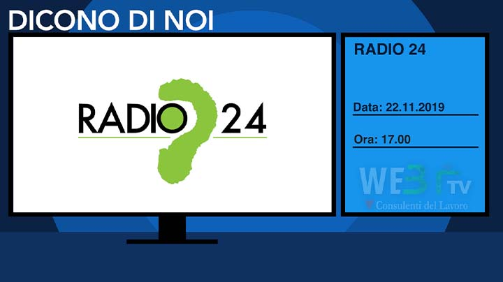 Radio24 del 22.11.2019