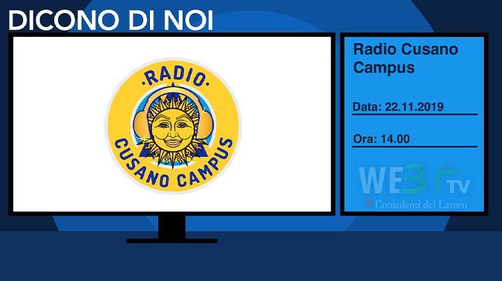 Radio Cusano Campus del 22.11.2019