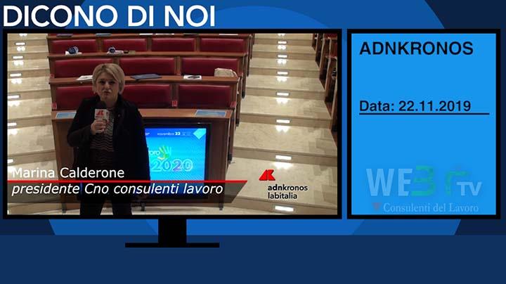 AdnKronos del 22.11.2019 - Calderone