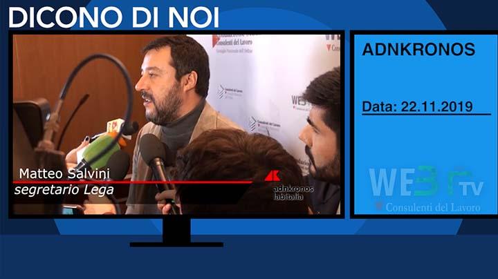 AdnKronos del 22.11.2019 - Salvini