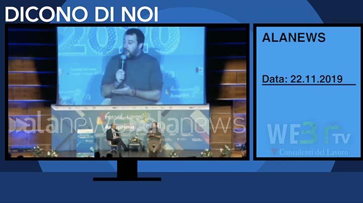 Alanews del 22.11.2019 - Salvini - 2