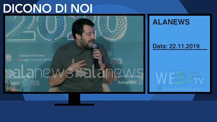 Alanews del 22.11.2019 - Salvini