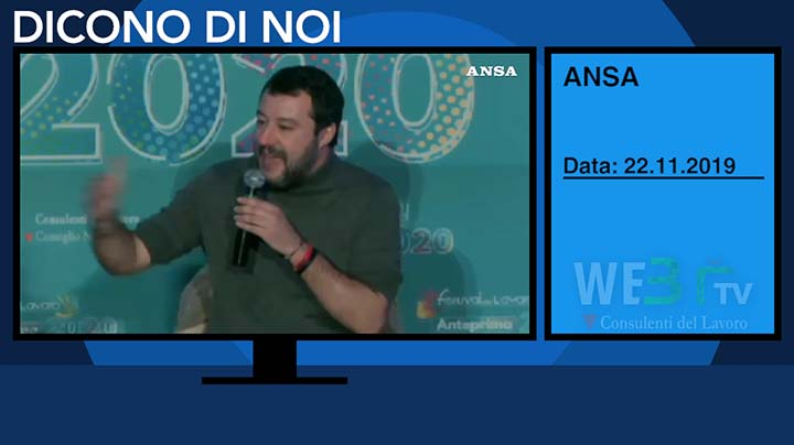 Ansa del 22.11.2019 - Salvini - 2