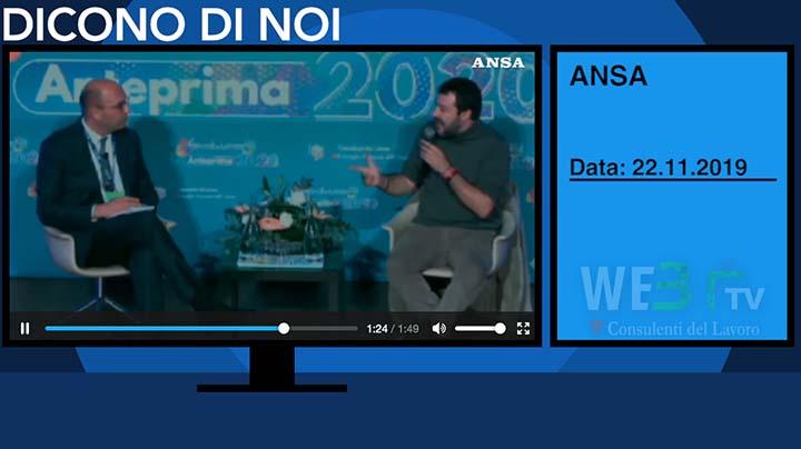Ansa del 22.11.2019 - Salvini