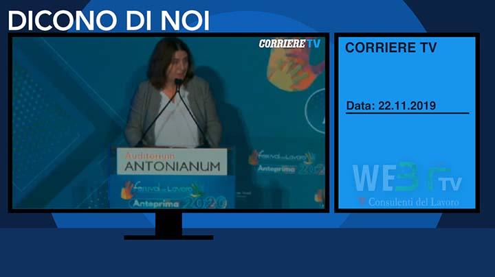 Corriere TV del 22.11.2019 - Nunzia Catalfo