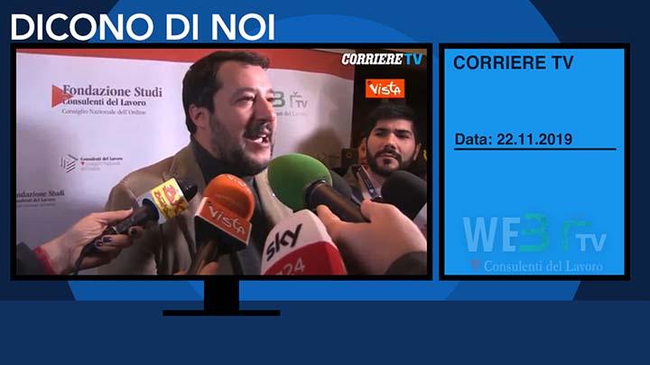 Corriere TV del 22.11.2019 - Matteo Salvini - 2