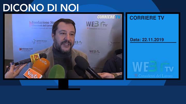 Corriere TV del 22.11.2019 - Matteo Salvini - 3