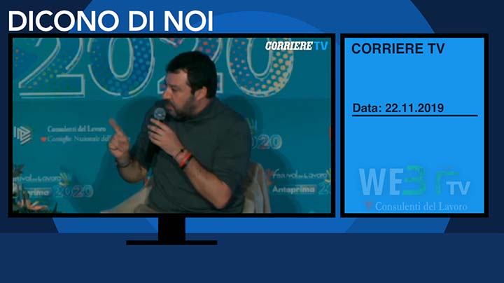 Corriere TV del 22.11.2019 - Matteo Salvini - 4