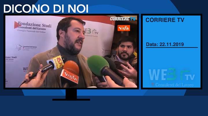 Corriere TV del 22.11.2019 - Matteo Salvini - 5