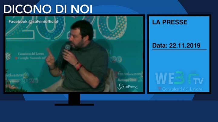 Lapresse del 22.11.2019 - Salvini