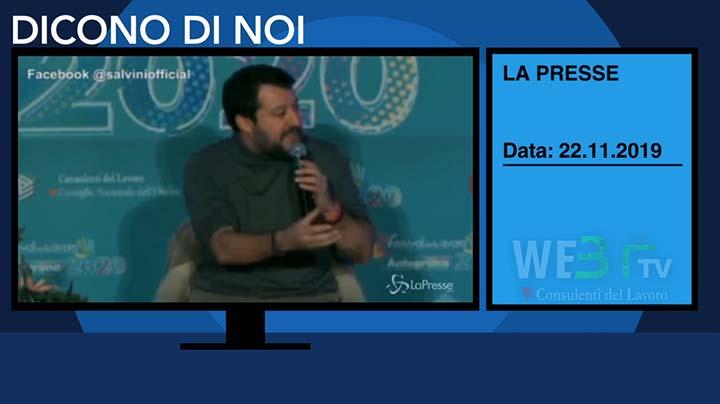 Lapresse del 22.11.2019 - Salvini-2