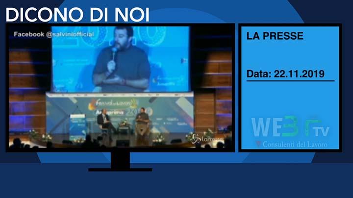 Lapresse del 22.11.2019 - Salvini-3