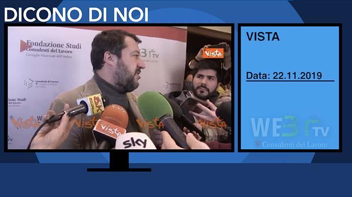 Vista del 22.11.2019 - Salvini - 2