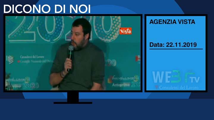 Vista del 22.11.2019 - Salvini