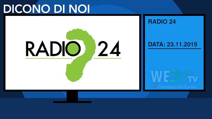 Radio24 del 23.11.2019