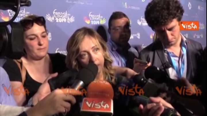 Vista intervista del 20.06.2019 a Giorgia Meloni