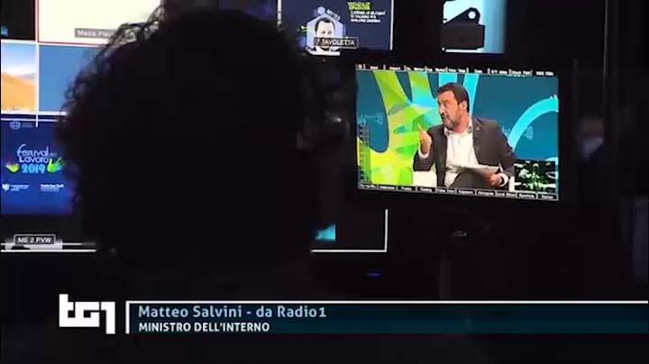 Matteo Salvini al TG1 Festival del Lavoro del 21.06.2019