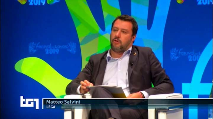 TG1 del 21.06.2019 Salvini