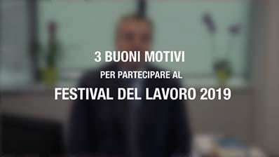 Altri tre (buoni) motivi per partecipare al Festival del Lavoro 2019