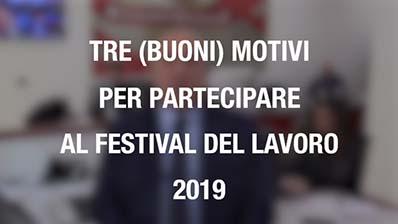 Tre (buoni) motivi per partecipare al Festival del Lavoro 2019