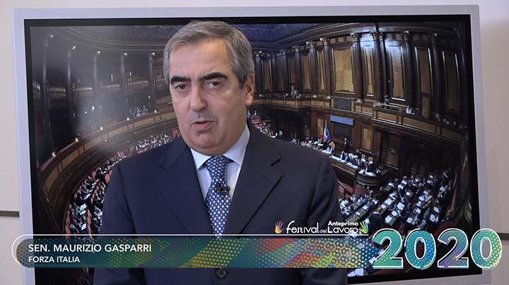 Il video messaggio del Senatore Maurizio Gasparri all'anteprima Festival del Lavoro 2020