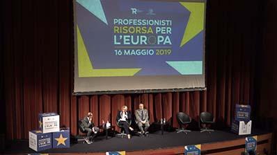 Professionisti risorsa per l'Europa, convegno CUP - RPT del 16.05.2019